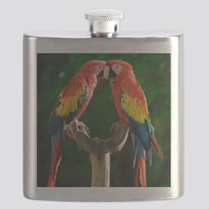 Beautiful Parrots Flask