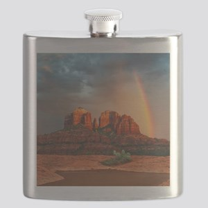 Rainbow In Grand Canyon Flask