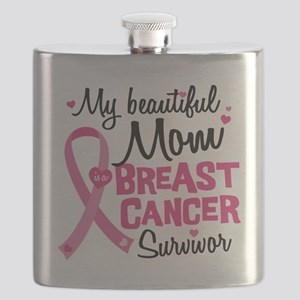 Mom Breast Cancer Flask