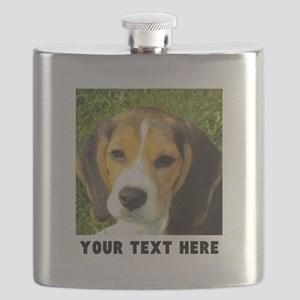 Dog Photo Personalized Flask
