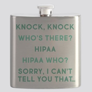 Knock Knock HIPAA Flask
