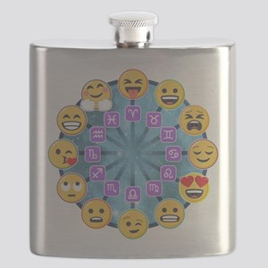 Emoji Circle Horoscopes Flask