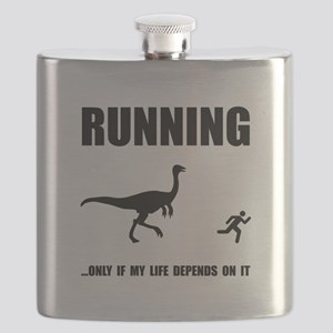 Hate Running Black Flask