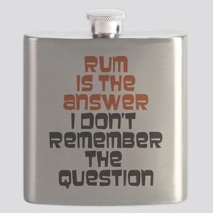 Rum Is The Answer Flask