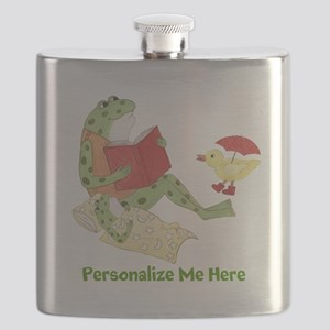 Personalized Frog Flask