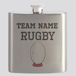 (Team Name) Rugby Flask