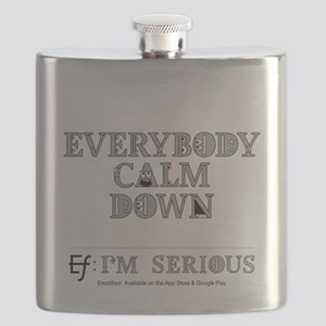 Emotifont I'm Serious Flask