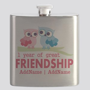 1st Anniversary Personalized Flask