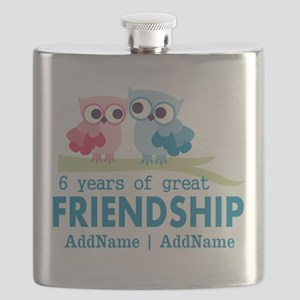 6th Anniversary Couple Gift Personalized Flask