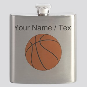 Custom Orange Basketball Flask