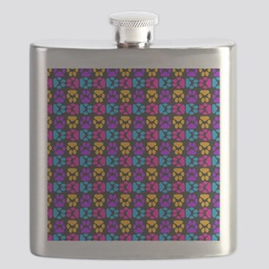Whimsical Cute Paws Pattern Flask