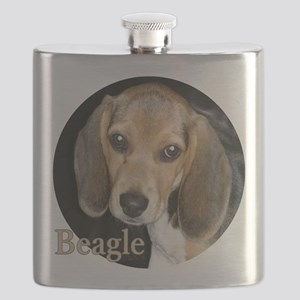 Close Up Beagle Puppy Flask
