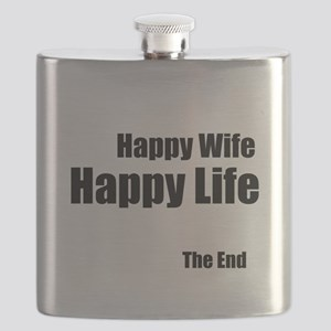Happy Wife Happy Life The End Flask