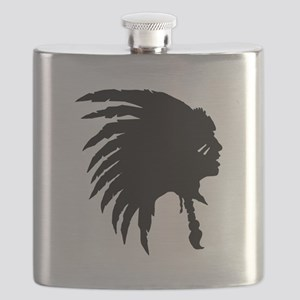 Native American Silhouette Flask