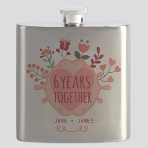 Personalized 6th Anniversary Flask