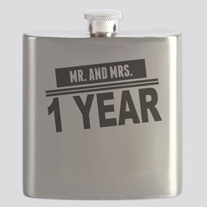 Mr. And Mrs. 1 Year Flask