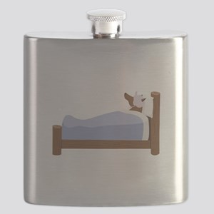 Wolf In Bed Flask