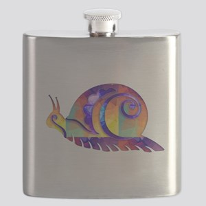Polygon Mosaic Snail Multicolored Flask