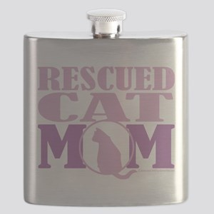 Rescued-Cat-Mom Flask