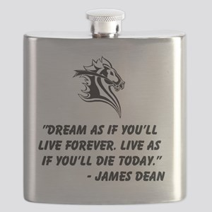 Dream and Live - for Horse Lovers Flask