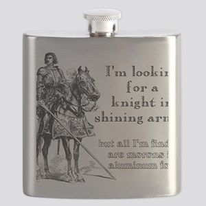 Knight In Shining Armor Funny T-Shirt Flask