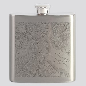 Vintage Map of Boston (1878) Flask