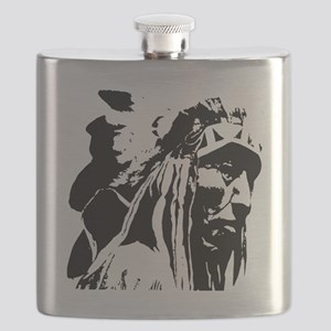 Native American Chief Art Flask