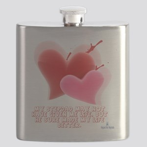 Made my life better - 2 Hearts Flask