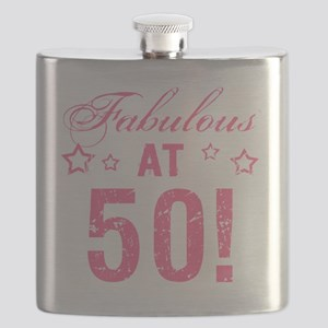 Fabulous 50th Birthday Flask