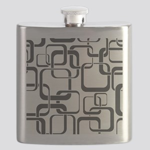 Black and White Retro Flask