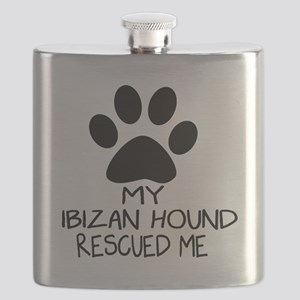 Ibizan Hound Rescued Me Flask
