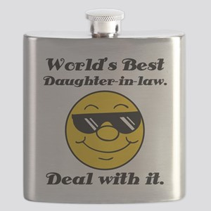 World's Best Daughter-In-Law Humor Flask