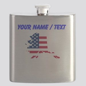 Custom Alaska American Flag Flask