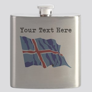 Custom Iceland Flag Flask