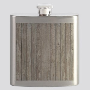 shabby chic white barn wood Flask