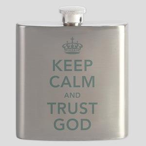 Keep Calm and Trust God Flask