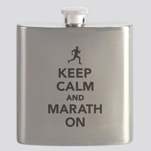 Keep calm and Marathon Flask