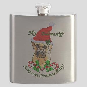 Bullmastiff Christmas Flask