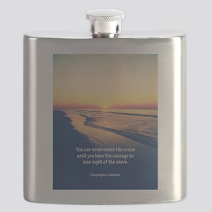 Christopher Columbus Quote Flask