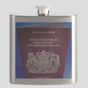British passport Flask