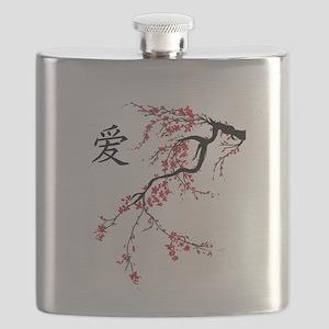 Cherry Blossom Flask