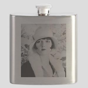louise brooks silent movie star Flask