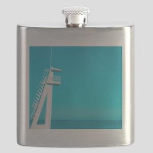 Playa beach, blue color. Flask