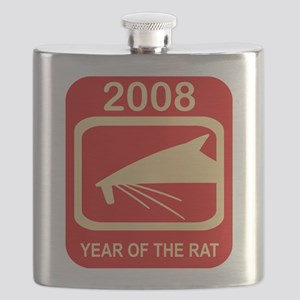 2008 Year Of The Rat Flask