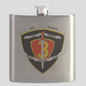 SSI - 1st Battalion - 3rd Marines Flask