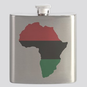 Red, Black and Green Africa Flag Flask