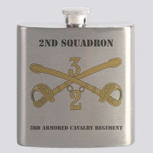 DUI-2-3RD ARMORED CAVALRY REGIMENT WITH TEXT Flask