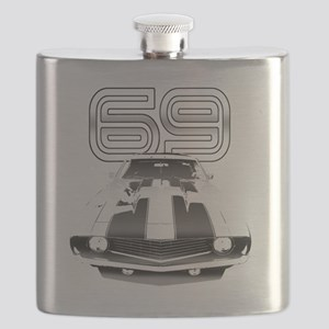 Camaro Black 1969 Flask
