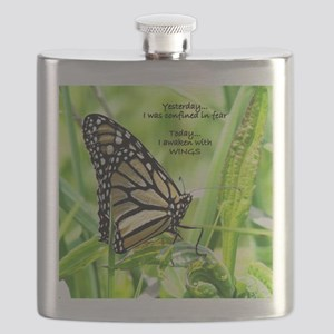 Thinking Butterfly Flask