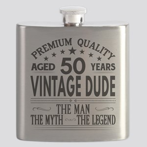 VINTAGE DUDE AGED 50 YEARS Flask